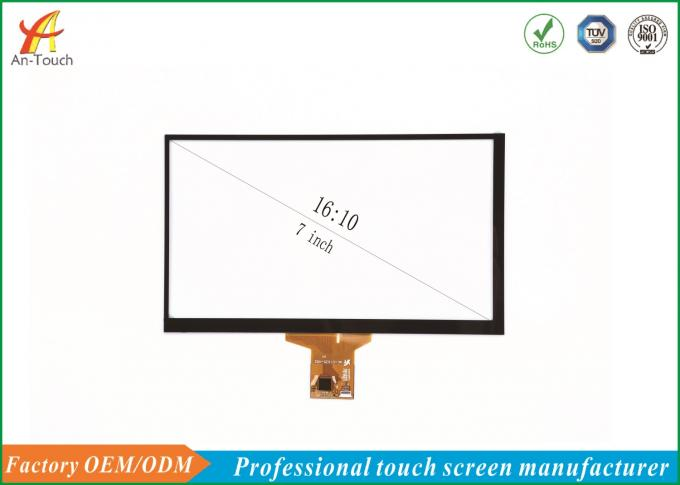 7 Inch Car Touch Panel Overlay Touchscreen PG Structure For Built-In With ILITEK IC
