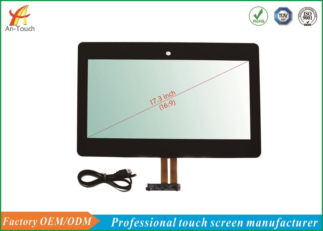 17.3 Inch Kiosk Lcd Touch Screen , Interactive Touch Panel GG Structure