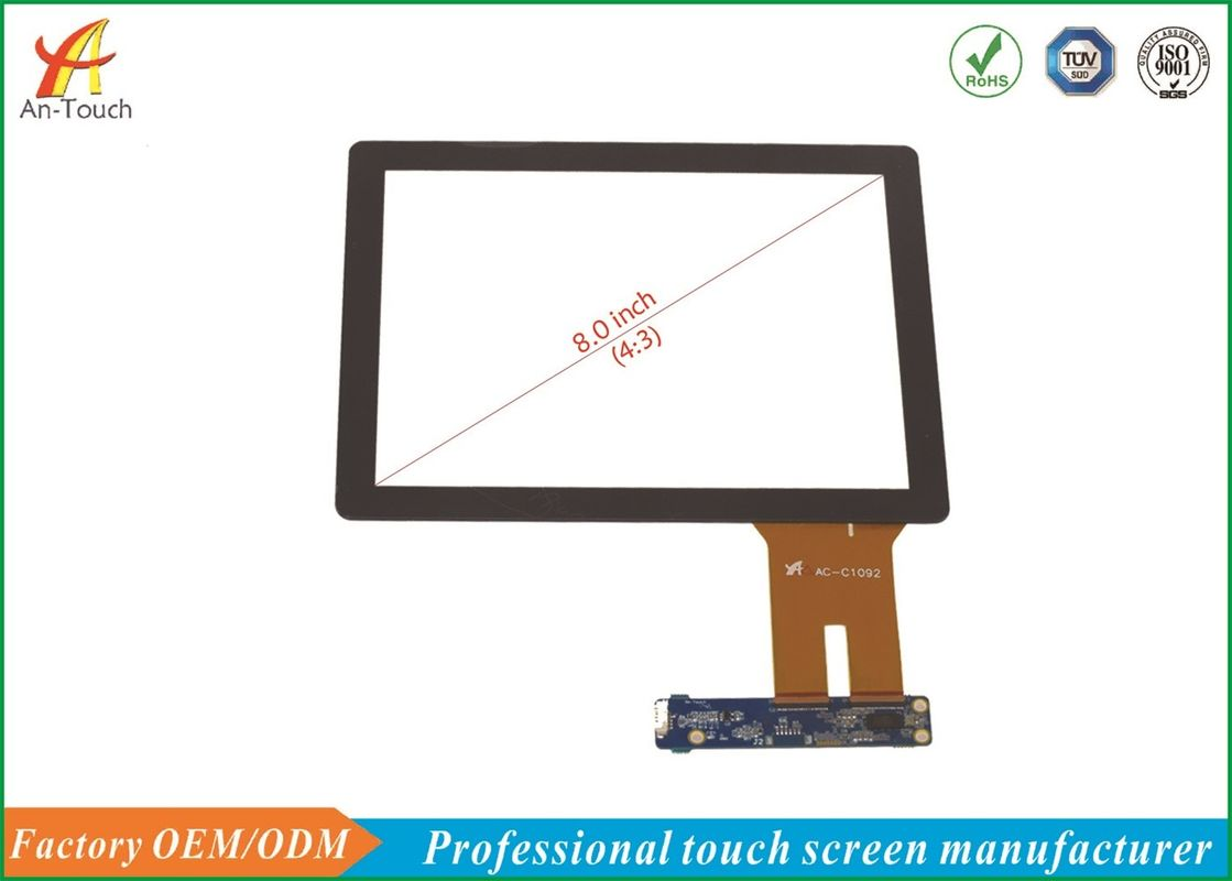 High Transmittance Projected Capacitive Touch Panel 8.0 Inch For Smart Home supplier