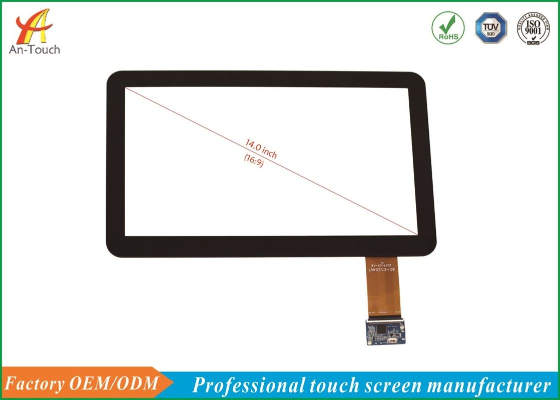 Interactive USB Touch Screen 14 Inch ILITEK 2511 IC Controller , 1.1mm  Cover Lens