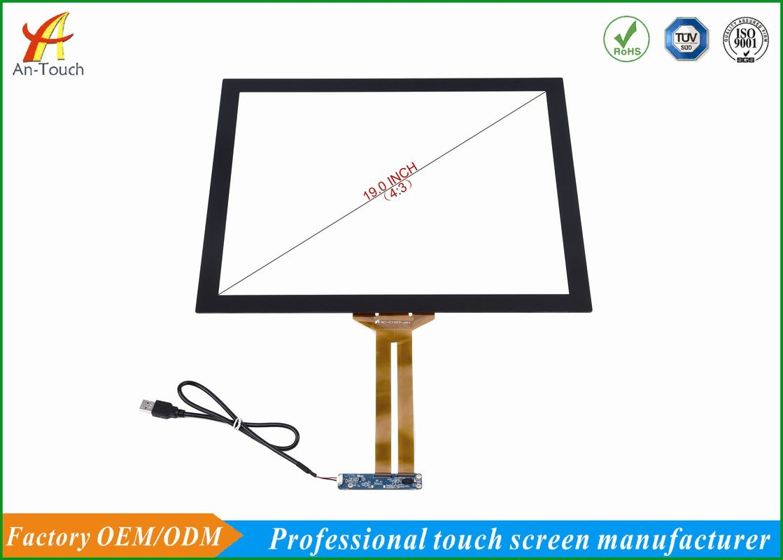"High Brightness 19"" Capacitive Touch Panel For Touch Monitors / KTV System"