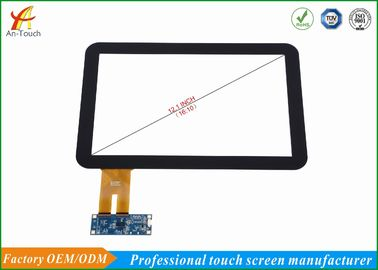 Industrial 12.1 Capacitive Touch Screen , 10 Point Touch Display Panel Response Fast