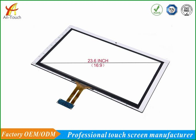 Waterproof 23.6 Large Touch Screen Display Panel With Silk Print For Kiosk
